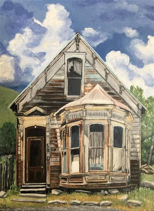 Original art for sale at UGallery.com | A House Wishes to Be a Home: Carpentry Skills a Plus by PATRICIA FREEMAN | $325 |  | 14' h x 11' w | ..\art\acrylic-painting-A-House-Wishes-to-Be-a-Home-Carpentry-Skills-a-Plus