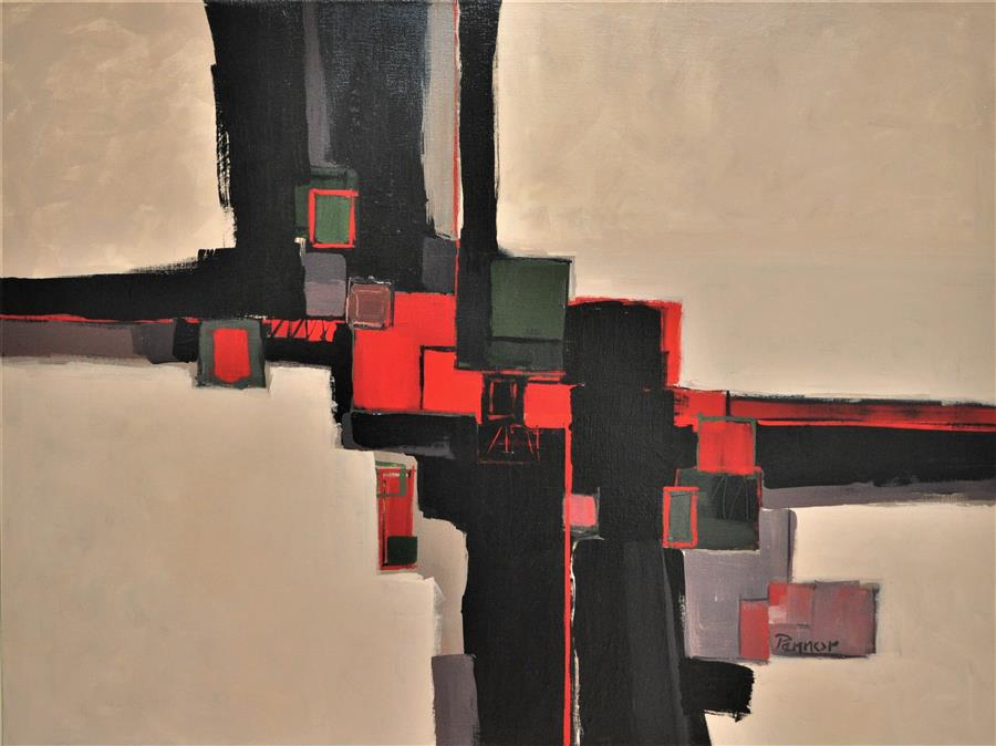 Original art for sale at UGallery.com | Red Keys by ROBERT PENNOR | $1,975 |  | 30' h x 40' w | ..\art\acrylic-painting-Red-Keys