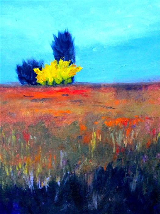 Original art for sale at UGallery.com | Field by NANCY MERKLE | $425 |  | 16' h x 12' w | ..\art\oil-painting-Field-51018