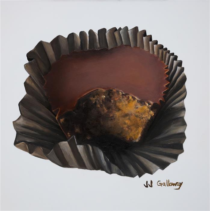 Original art for sale at UGallery.com | Peanut Butter Cup by JJ GALLOWAY | $275 | Oil painting | 8' h x 8' w | ..\art\oil-painting-Peanut-Butter-Cup