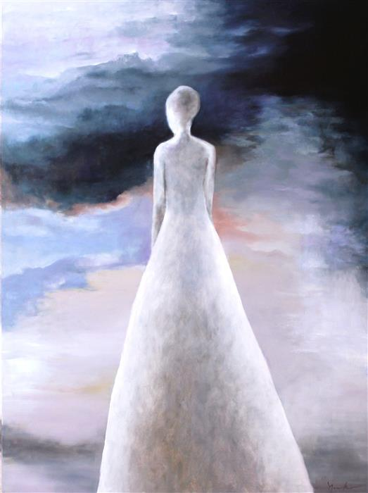 Original art for sale at UGallery.com | Find Me Standing in the Light IV by NAOKO PALUSZAK | $2,500 |  | 40' h x 30' w | ..\art\oil-painting-Find-Me-Standing-in-the-Light-IV