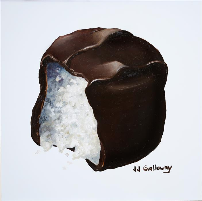 Original art for sale at UGallery.com | Coconut Cream by JJ GALLOWAY | $275 |  | 8' h x 8' w | ..\art\oil-painting-Coconut-Cream