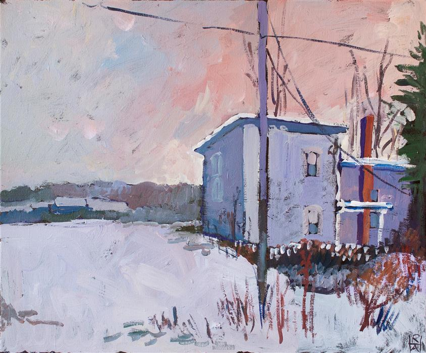 Original art for sale at UGallery.com | Cold Afternoon by ROBERT HOFHERR | $650 |  | 20' h x 24' w | ..\art\acrylic-painting-Cold-Afternoon