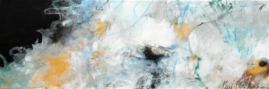 Original art for sale at UGallery.com | Jupiter Comes Rolling In by KERRI  BLACKMAN | $625 |  | 12' h x 36' w | ..\art\mixed-media-artwork-Jupiter-Comes-Rolling-In