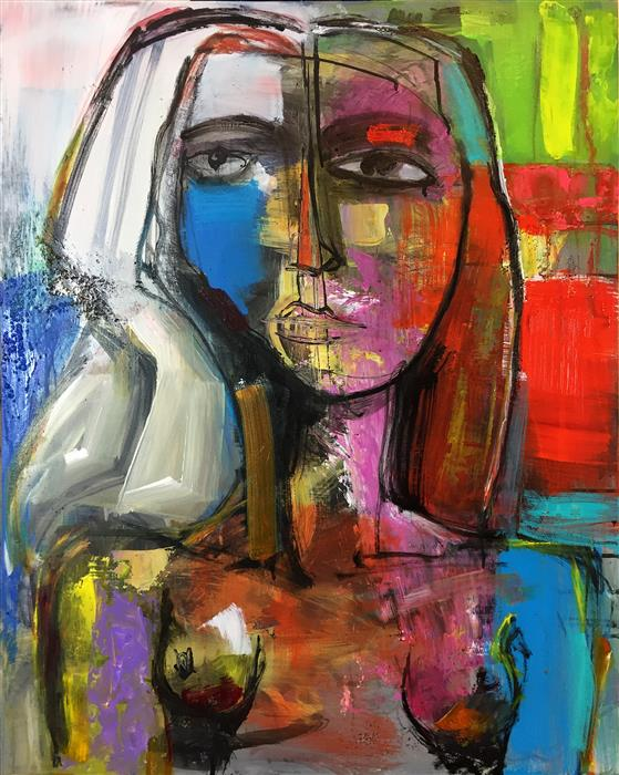 Original art for sale at UGallery.com | Woman by ALLEN WITTERT | $1,975 | Acrylic painting | 30' h x 24' w | ..\art\acrylic-painting-Woman-48938