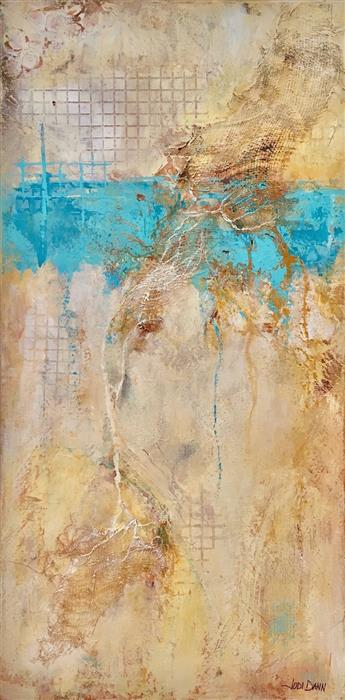 Original art for sale at UGallery.com | Roots & Faults by JODI  DANN | $500 |  | 24' h x 12' w | ..\art\mixed-media-artwork-Roots-Faults
