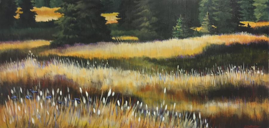 Original art for sale at UGallery.com | Grasses #2 by PAUL LEWING | $600 |  | 12' h x 24' w | ..\art\acrylic-painting-Grasses-2