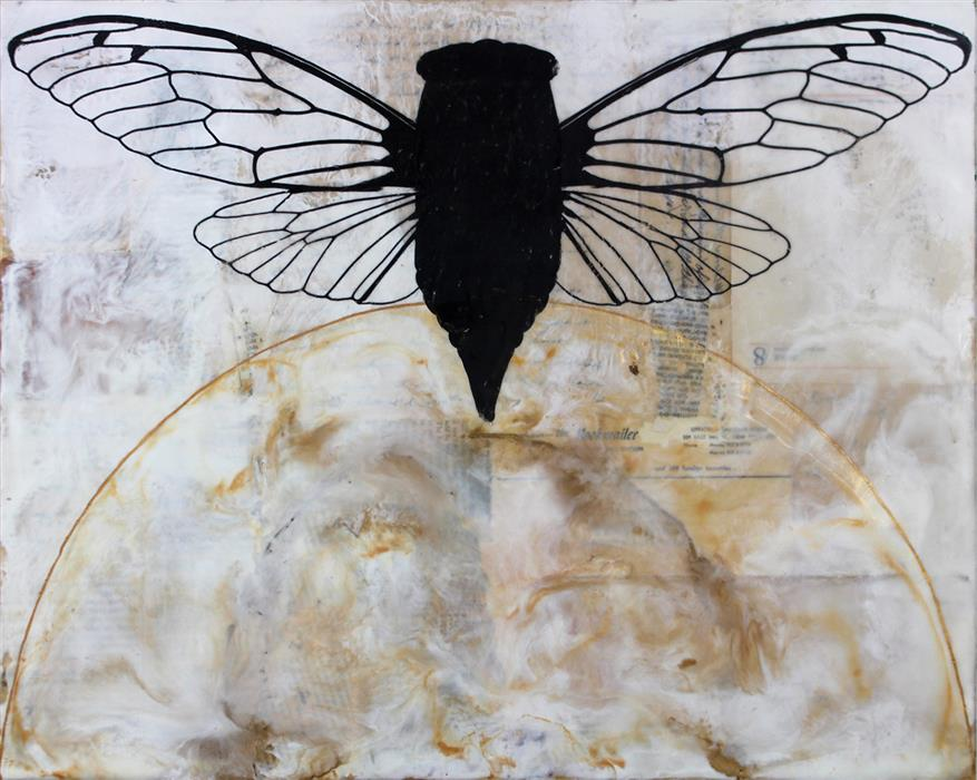 Original art for sale at UGallery.com | Emergence by SHANNON AMIDON | $925 | Encaustic artwork | 16' h x 20' w | ..\art\encaustic-artwork-Emergence