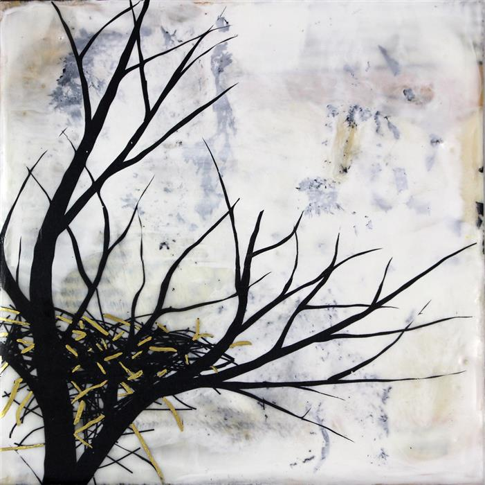 Original art for sale at UGallery.com | New Beginnings by SHANNON AMIDON | $225 | Encaustic artwork | 6' h x 6' w | ..\art\encaustic-artwork-New-Beginnings