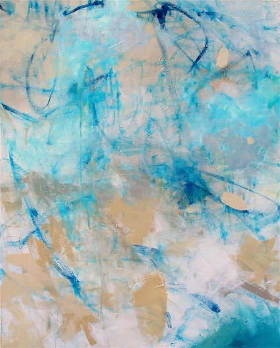 Original art for sale at UGallery.com | Sand and Sea by KERRI  BLACKMAN | $725 |  | 30' h x 24' w | ..\art\acrylic-painting-Sand-and-Sea-49208