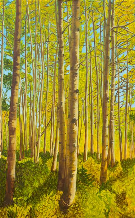 Original art for sale at UGallery.com | Forest for the Trees by Crystal DiPietro | $4,100 | oil painting | 48' h x 30' w | ..\art\oil-painting-Forest-for-the-Trees