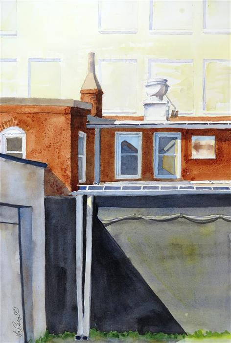 Original art for sale at UGallery.com | Angle Study - Washington, DC by NANCY MUREN | $650 |  | 20' h x 14' w | ..\art\watercolor-painting-Angle-Study-Washington-DC