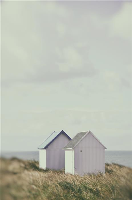Original art for sale at UGallery.com | Beach Huts 2 by Carina Okula | $25 | photography | 15' h x 10' w | ..\art\photography-Beach-Huts-2