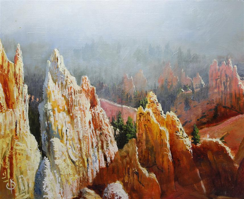 Original art for sale at UGallery.com | Bryce Canyon by KENT SULLIVAN | $675 |  | 11.5' h x 14' w | ..\art\oil-painting-Bryce-Canyon