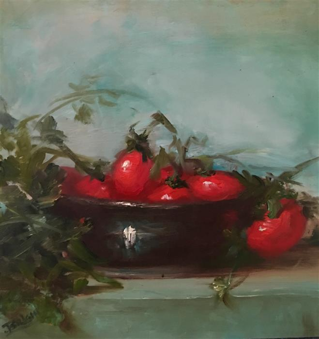 Original art for sale at UGallery.com | Ripe Now by JULIA BRIGHT | $1,025 |  | 12' h x 12' w | ..\art\oil-painting-Ripe-Now