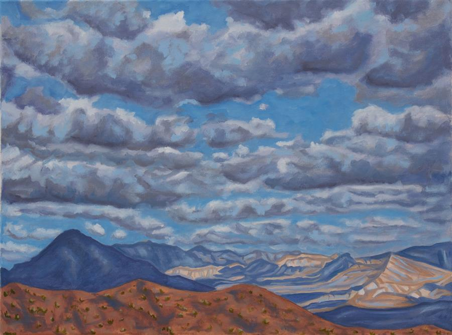 Original art for sale at UGallery.com | Clouds That Come & Go with Nary a Thought by CRYSTAL DIPIETRO | $1,025 |  | 18' h x 24' w | ..\art\oil-painting-Clouds-That-Come-Go-with-Nary-a-Thought