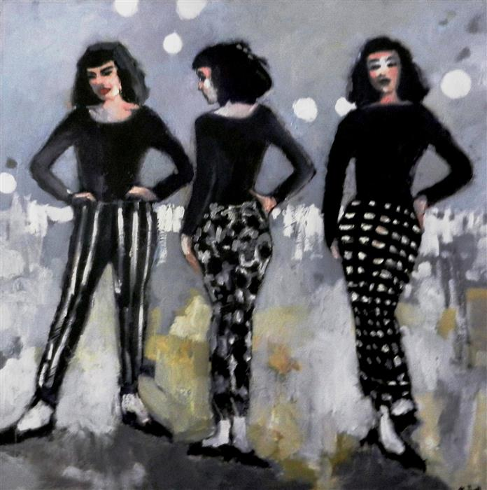 Original art for sale at UGallery.com | When Hips Were Style by MARY PRATT | $3,900 |  | 48' h x 48' w | ..\art\oil-painting-When-Hips-Were-Style