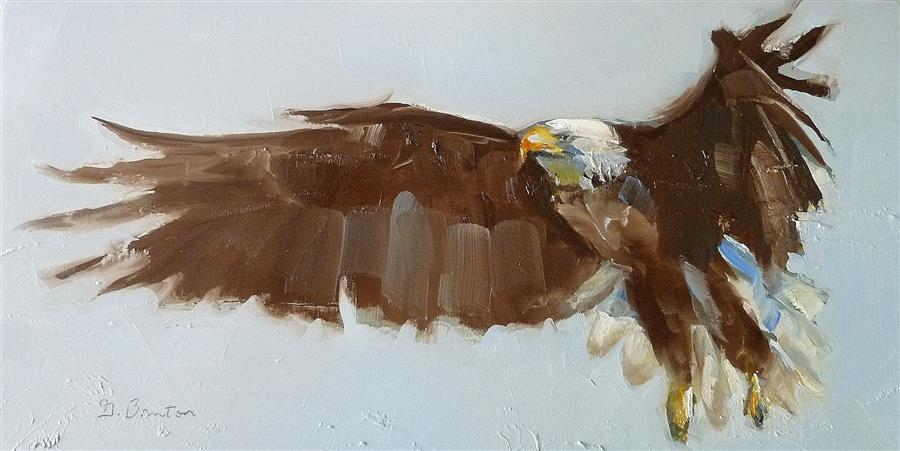 Original art for sale at UGallery.com | Flight by GARY BRUTON | $575 |  | 6' h x 12' w | ..\art\oil-painting-Flight-52026