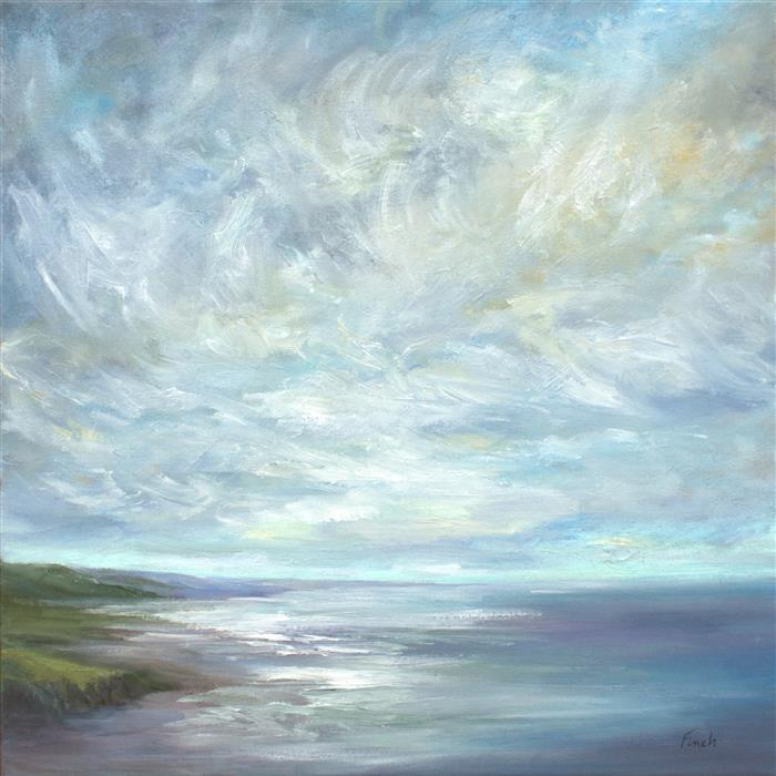 Original art for sale at UGallery.com | Crosswinds by SHEILA FINCH | $2,350 | Oil painting | 20' h x 20' w | ..\art\oil-painting-Crosswinds-52050