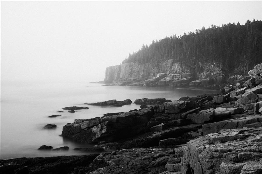 Original art for sale at UGallery.com | Otter Cliff, Acadia National Park by Adam Garelick | $25 | photography | 15' h x 10' w | ..\art\photography-Otter-Cliff-Acadia-National-Park