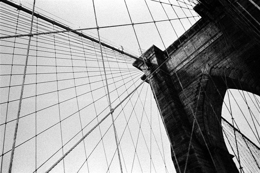 Original art for sale at UGallery.com | Brooklyn Bridge Cables by Adam Garelick | $25 | photography | 15' h x 10' w | ..\art\photography-Brooklyn-Bridge-Cables
