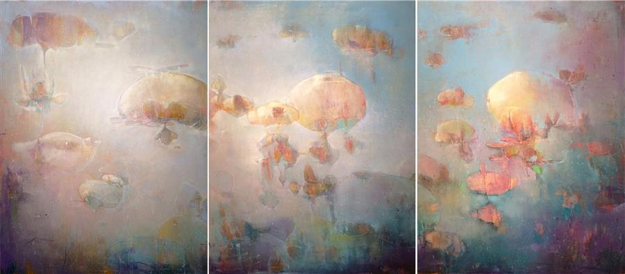 Original art for sale at UGallery.com | Dreams to Cling To by JOSHUA HOGAN | $6,775 |  | 40' h x 90' w | ..\art\oil-painting-Dreams-to-Cling-To