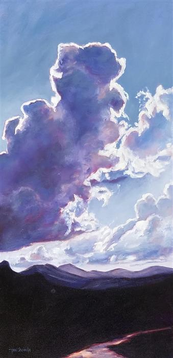 Original art for sale at UGallery.com | Sky Series #7 by TAMI CARDNELLA | $1,750 | Oil painting | 30' h x 15' w | ..\art\oil-painting-Sky-Series-7