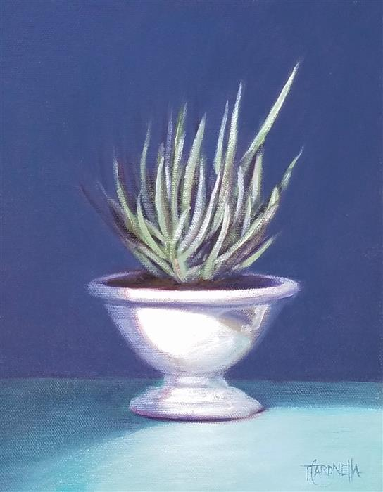 Original art for sale at UGallery.com | Little Succulent by TAMI CARDNELLA | $525 |  | 10' h x 8' w | ..\art\oil-painting-Little-Succulent