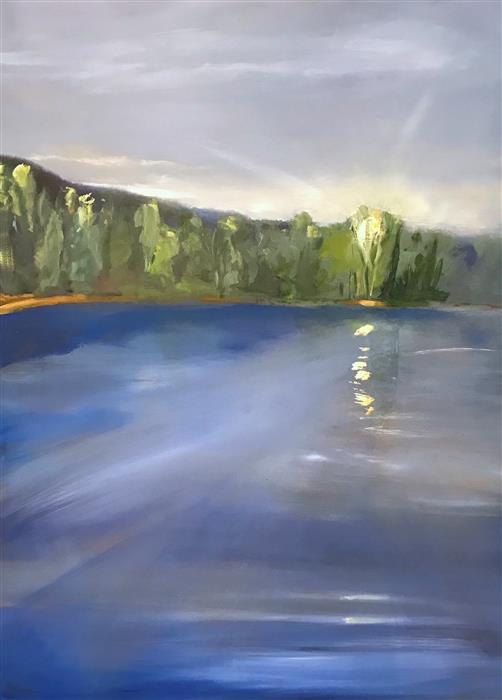 Original art for sale at UGallery.com | A New Day by PATRICIA FABIAN | $3,725 | Oil painting | 48' h x 36' w | ..\art\oil-painting-A-New-Day-52268