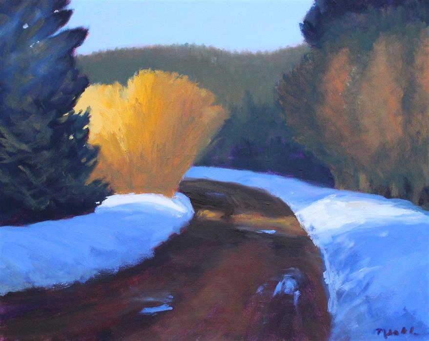 Original art for sale at UGallery.com | Rainier Road by Nancy Merkle | $650 | oil painting | 16' h x 20' w | ..\art\oil-painting-Rainier-Road