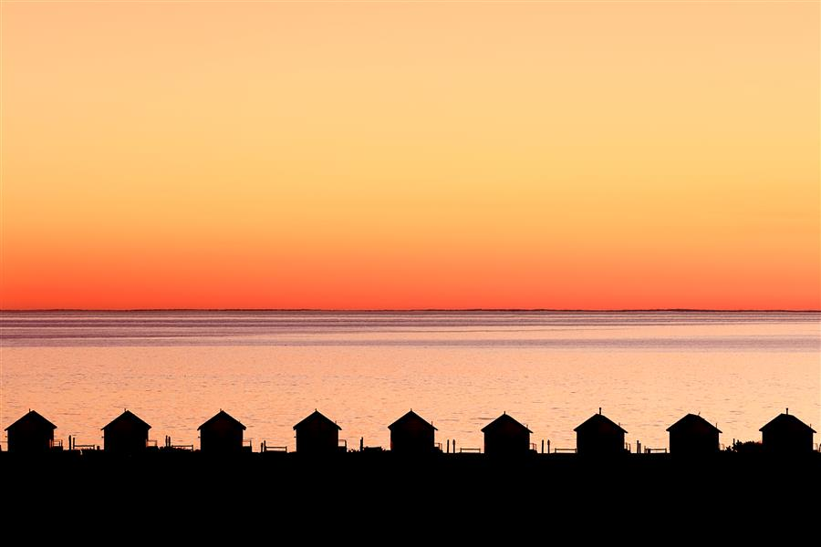 Original art for sale at UGallery.com | Dusk on Cape Cod Bay by Katherine Gendreau | $25 | photography | 18' h x 12' w | ..\art\photography-Dusk-on-Cape-Cod-Bay