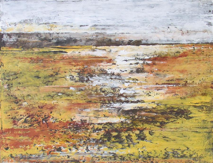 Original art for sale at UGallery.com | Across Yellow Fields by VALERIE BERKELY | $325 |  | 11' h x 14' w | ..\art\oil-painting-Across-Yellow-Fields