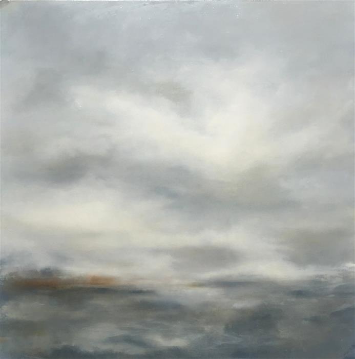 Original art for sale at UGallery.com | Navigating the Grey by FAITH TAYLOR | $2,775 |  | 36' h x 36' w | ..\art\oil-painting-Navigating-the-Grey