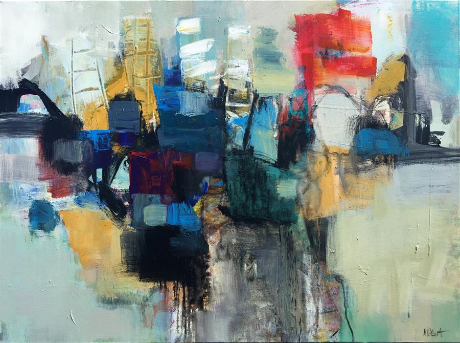 Original art for sale at UGallery.com | View of a Whole City by ALLEN WITTERT | $2,800 | Acrylic painting | 30' h x 40' w | ..\art\acrylic-painting-View-of-a-Whole-City