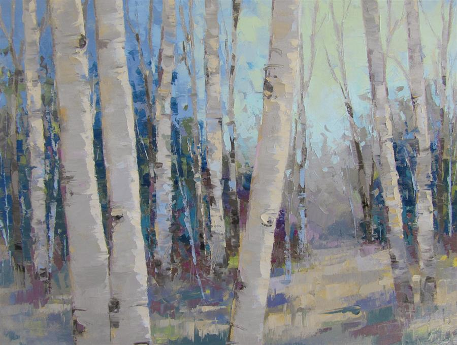 Original art for sale at UGallery.com | Nature Walk by TRICIA MAY | $2,175 |  | 24' h x 30' w | ..\art\oil-painting-Nature-Walk-52660
