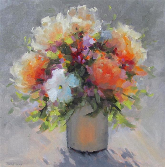 Original art for sale at UGallery.com | Fragrant Bouquet by TRICIA MAY | $975 |  | 18' h x 18' w | ..\art\oil-painting-Fragrant-Bouquet