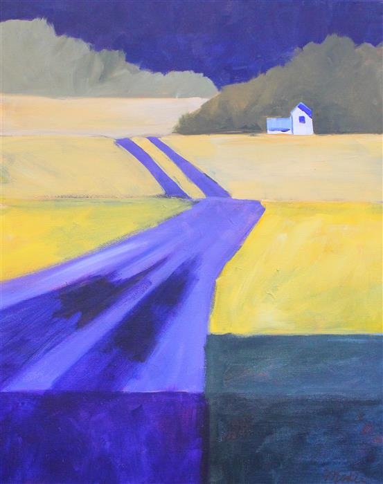 Original art for sale at UGallery.com | Road Home by NANCY MERKLE | $675 |  | 20' h x 16' w | ..\art\acrylic-painting-Road-Home
