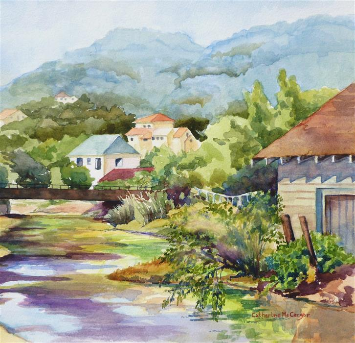 Original art for sale at UGallery.com | Arroyo del Hambre by CATHERINE MCCARGAR | $475 |  | 12' h x 12.5' w | ..\art\watercolor-painting-Arroyo-del-Hambre