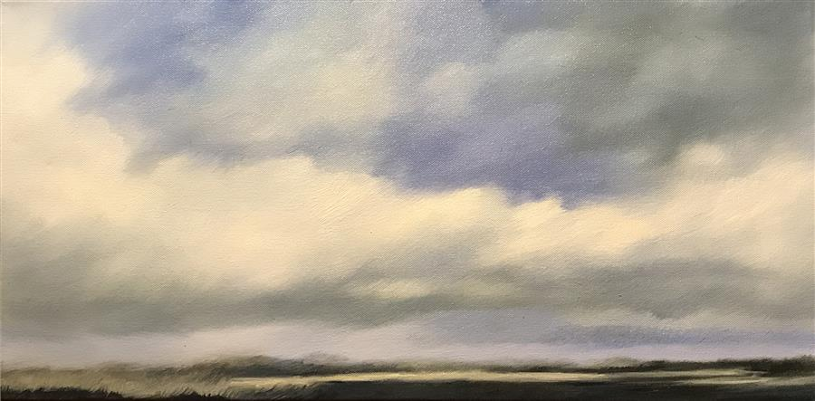 Original art for sale at UGallery.com | Quiet Evening by KELLY MONEY | $600 | Oil painting | 12' h x 24' w | ..\art\oil-painting-Quiet-Evening