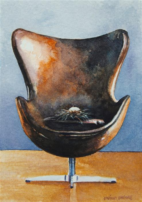 Original art for sale at UGallery.com | Copenhagen Nest by Dwight Smith | $225 | watercolor painting | 6' h x 4' w | ..\art\watercolor-painting-Copenhagen-Nest