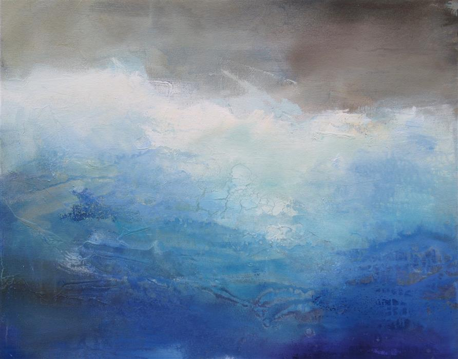 Original art for sale at UGallery.com | Ombre Blue by KAREN HALE | $1,825 |  | 24' h x 30' w | ..\art\acrylic-painting-Ombre-Blue