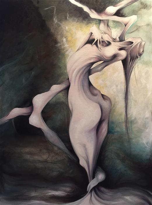 Original art for sale at UGallery.com | Poor Unfortunate Soul by SUMNER CRENSHAW | $1,300 |  | 40' h x 30' w | ..\art\oil-painting-Poor-Unfortunate-Soul