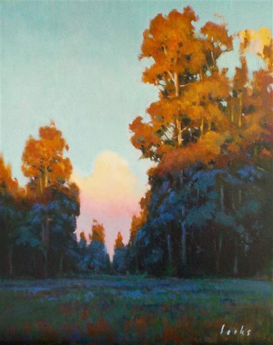 Original art for sale at UGallery.com | Sundown in Cypresswood by DAVID FORKS | $1,075 |  | 20' h x 16' w | ..\art\oil-painting-Sundown-in-Cypresswood