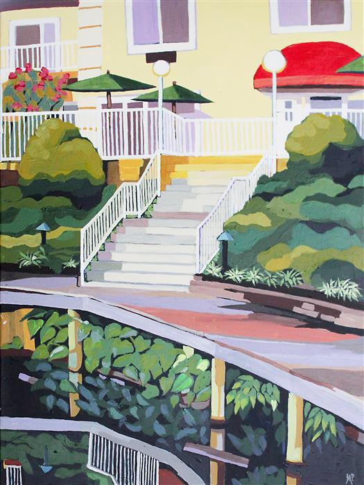 Original art for sale at UGallery.com | Under the Boardwalk by MELINDA PATRICK | $750 |  | 24' h x 18' w | ..\art\acrylic-painting-Under-the-Boardwalk