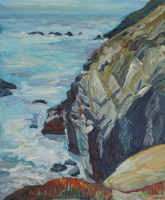 Original art for sale at UGallery.com | Rodeo Beach by JOHN KILDUFF | $1,150 | Oil painting | 24' h x 20' w | ..\art\oil-painting-Rodeo-Beach