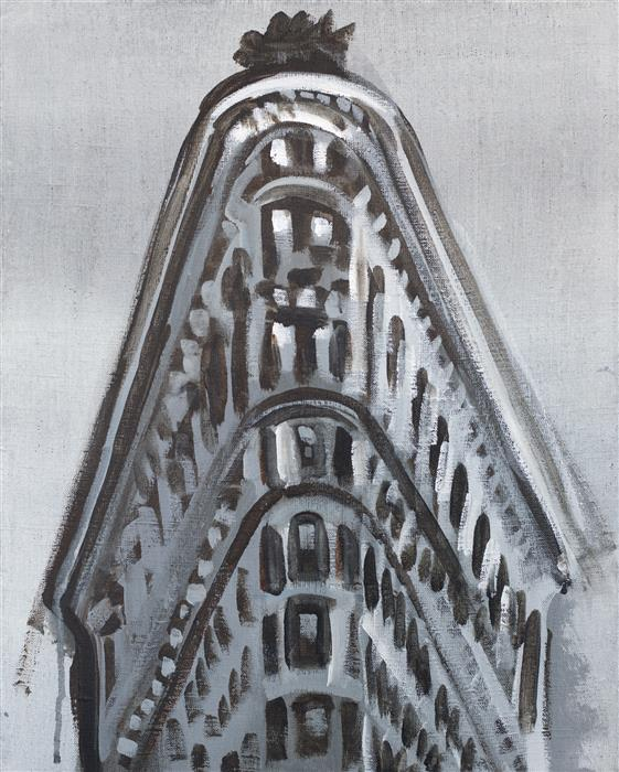 Original art for sale at UGallery.com | Flatiron by WREN MEYERS | $625 |  | 20' h x 16' w | ..\art\acrylic-painting-Flatiron