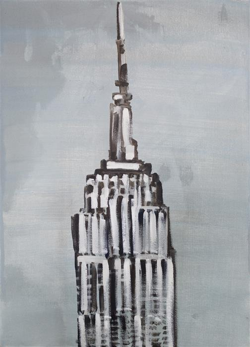 Original art for sale at UGallery.com | Empire State by WREN MEYERS | $675 |  | 27.5' h x 19.5' w | ..\art\acrylic-painting-Empire-State