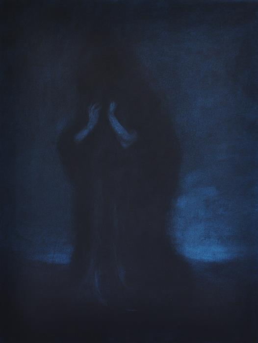 Original art for sale at UGallery.com | Mourning Woman by DREW MCSHERRY | $775 |  | 25' h x 19' w | ..\art\charcoal-drawing-Mourning-Woman