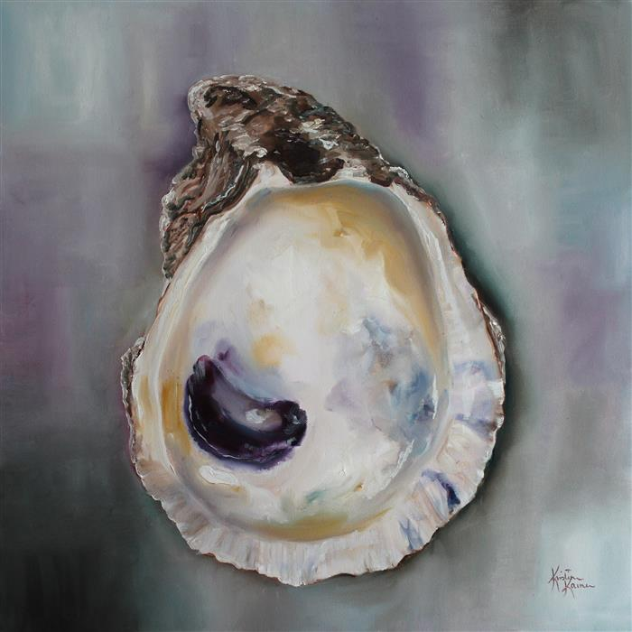 Original art for sale at UGallery.com | Bay Oyster Shell by KRISTINE KAINER | $1,750 |  | 24' h x 24' w | ..\art\oil-painting-Bay-Oyster-Shell
