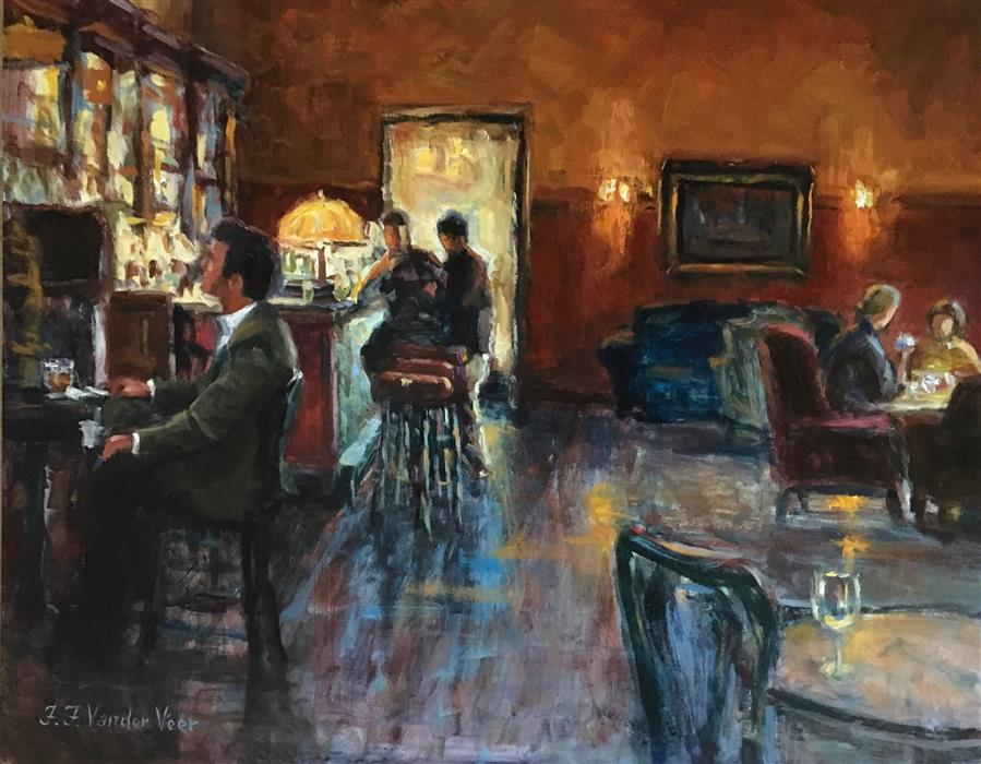 Original art for sale at UGallery.com | Before Going Home by FAYE VANDER VEER | $1,925 |  | 16' h x 20' w | ..\art\oil-painting-Before-Going-Home